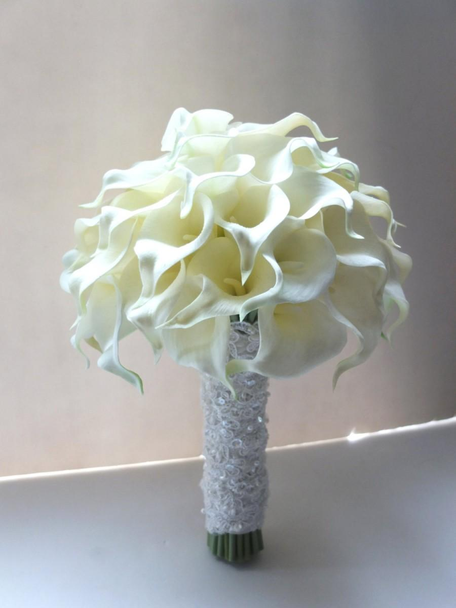 Ivory Calla Lily Bouquet Bridal Bouquet Wedding Bouquet 2456491