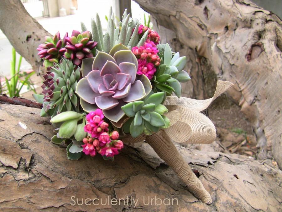 Mariage - Wedding succulent bouquet, Succulent bridal bouquet, Bridal bouquet