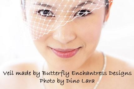 Mariage - SALE Bridal Blusher Birdcage Veil in White or Ivory