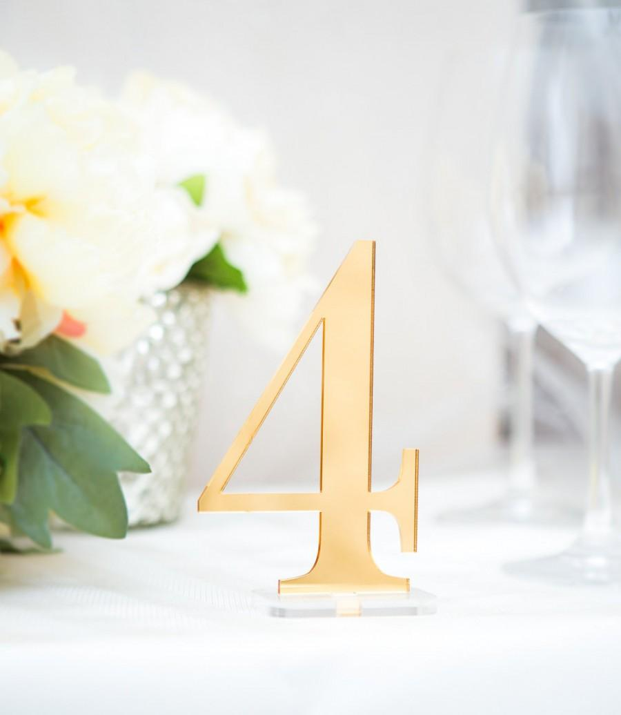 Table Numbers For Wedding Party Or Event, Gold Or Silver Wedding ...