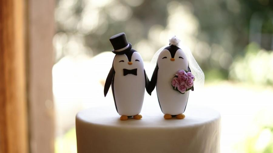Decor - Penguin Wedding Cake Topper #2456524 - Weddbook