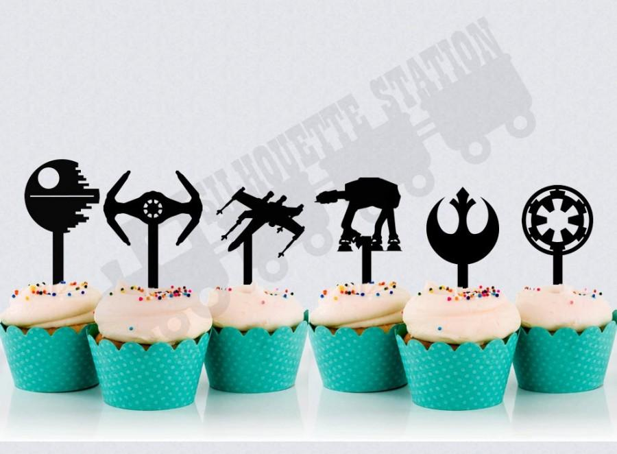 Mariage - Star Wars Cupcake Toppers