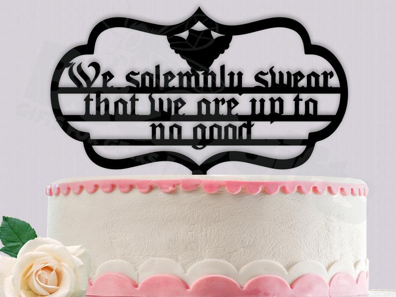 We Solemnly Swear Harry Potter Cake Topper