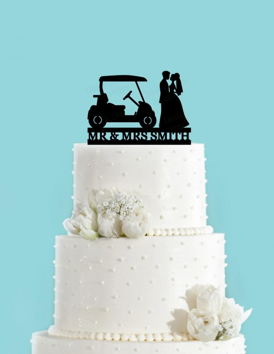 Mariage - Custom Country Club Wedding Golf Cake Topper (Acrylic)
