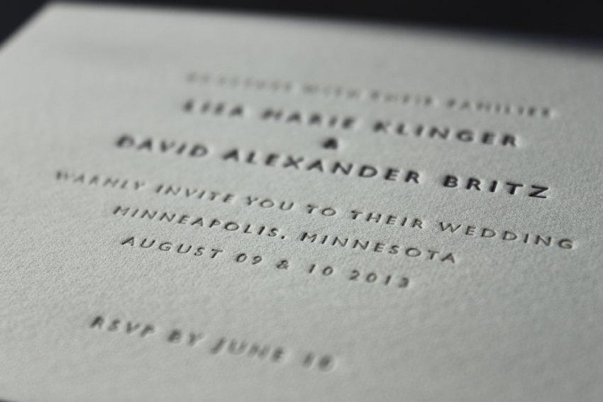 زفاف - Letterpress Wedding Invitations // Classic Wedding (A6 size)