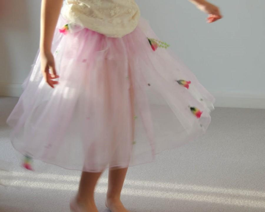 Mariage - Pink Fairy Costume Skirt and Hairband for Flower Girls, Woodland Wedding, Fairy Costume in Organza & Tulle
