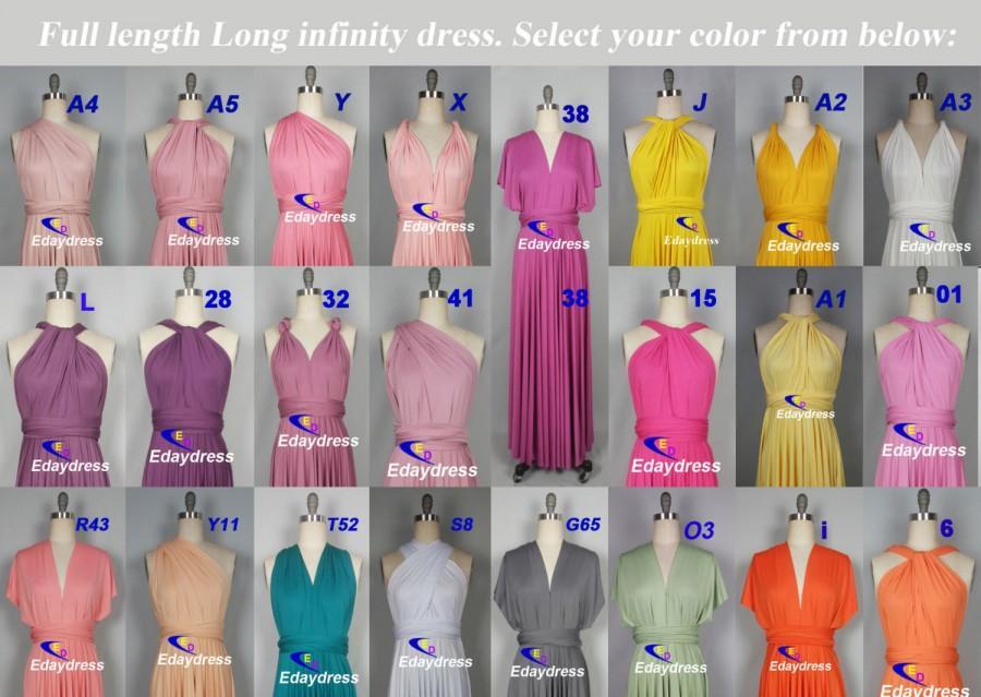 Mariage - Full Length Long Maxi Infinity Dress Convertible Formal Multiway Wrap Dress Bridesmaid Dress Wedding Dress Party dress Evening Dress