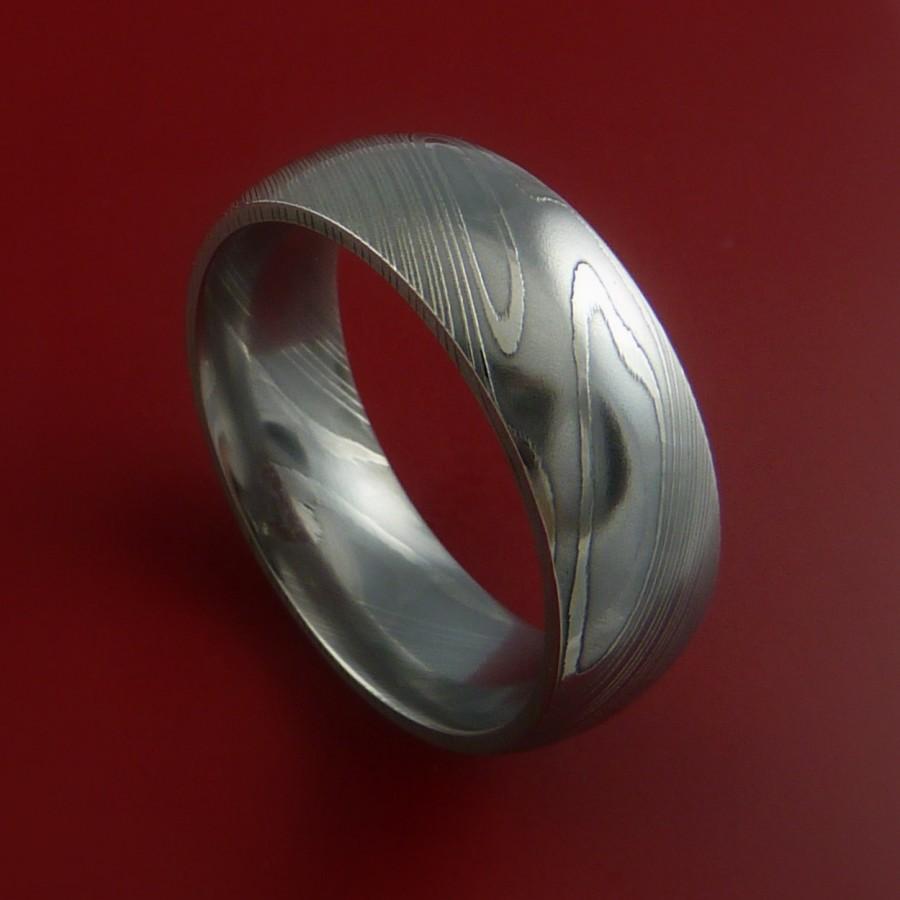 زفاف - Damascus Steel Ring Wedding Band Genuine Craftsmanship Any Size
