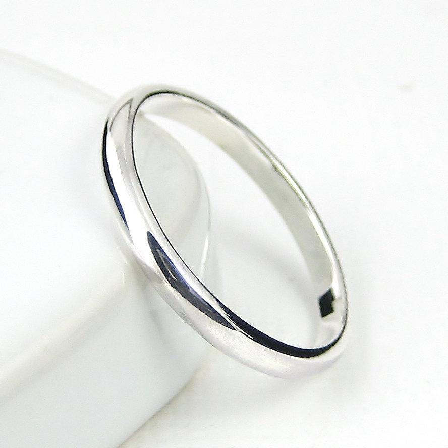 زفاف - Sterling Silver Ring Simple Band, Wedding Band, Stacking Ring, Pinkie Rings, Sterling Silver Jewellery