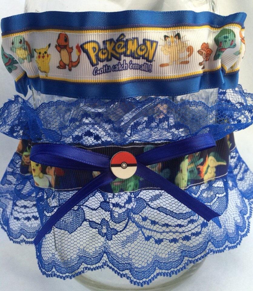 Mariage - Pokemon gamer Wedding Garter Set Geek Nerd