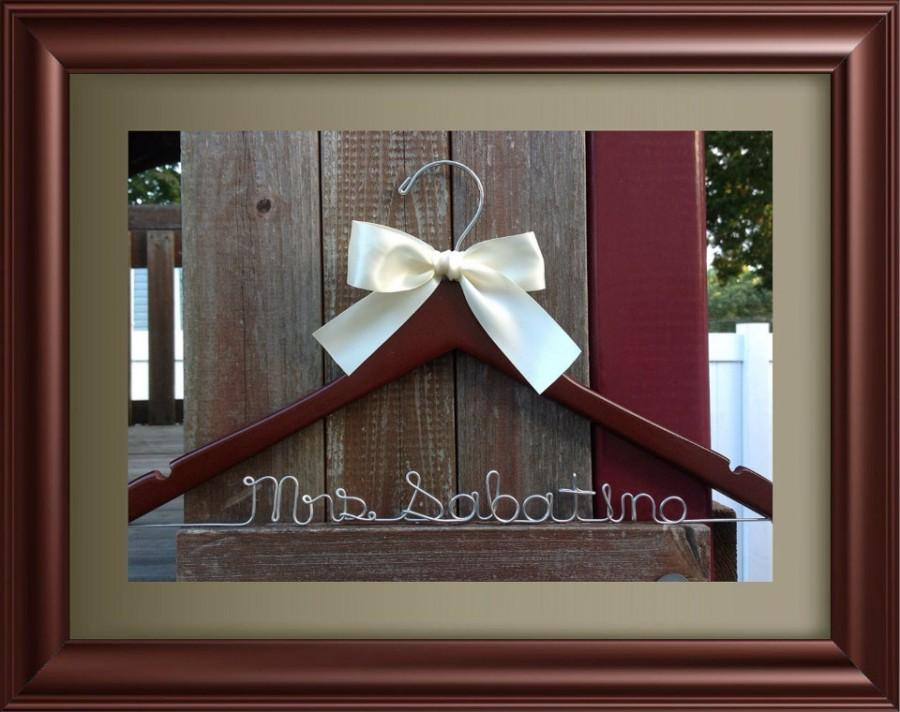 Mariage - Personalized Wedding Hanger / Brides Hanger/SHIPS FROM USA