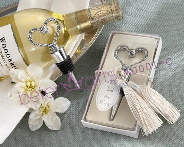 Hochzeit - Silver Heart Bottle Stopper Bride Gift Favors WJ001/C