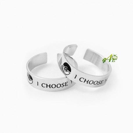 زفاف - I Choose You Ring Stainless Steel Couple Ring Engagement Ring I Choose You His & Her Promise Ring