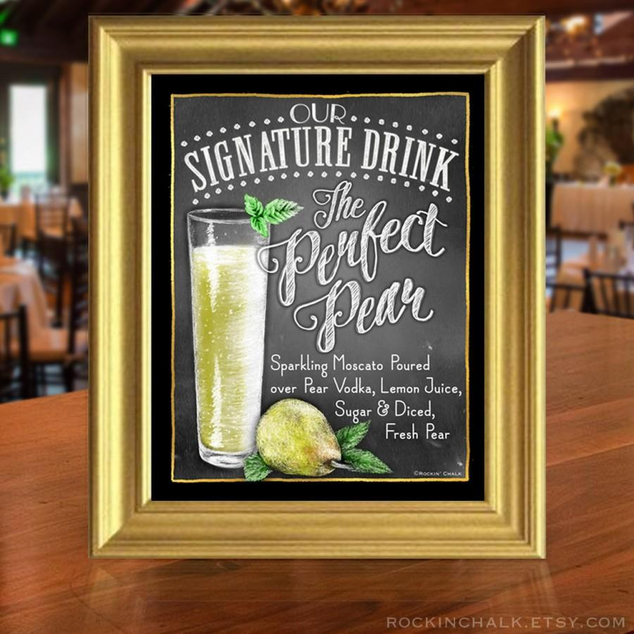 Decor chalkboard style signature drink signs 2456796 weddbook chalkboard style signature drink signs junglespirit