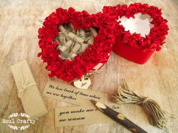 52 Reasons I Love You Because Red Hydrangea Petal Window Box ...
