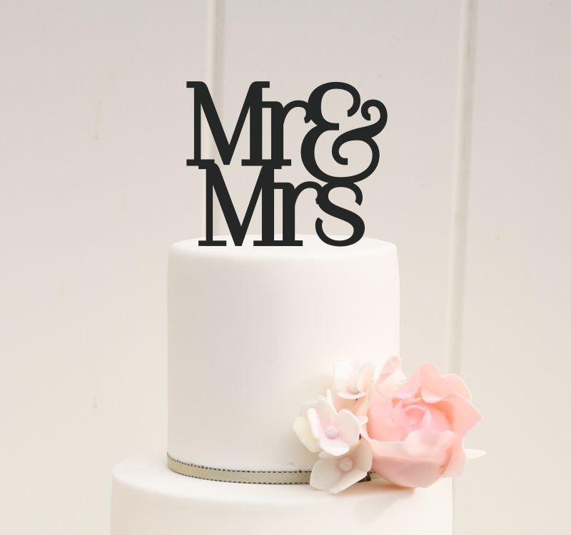 Hochzeit - Custom Wedding Cake Topper Mr and Mrs Cake Topper