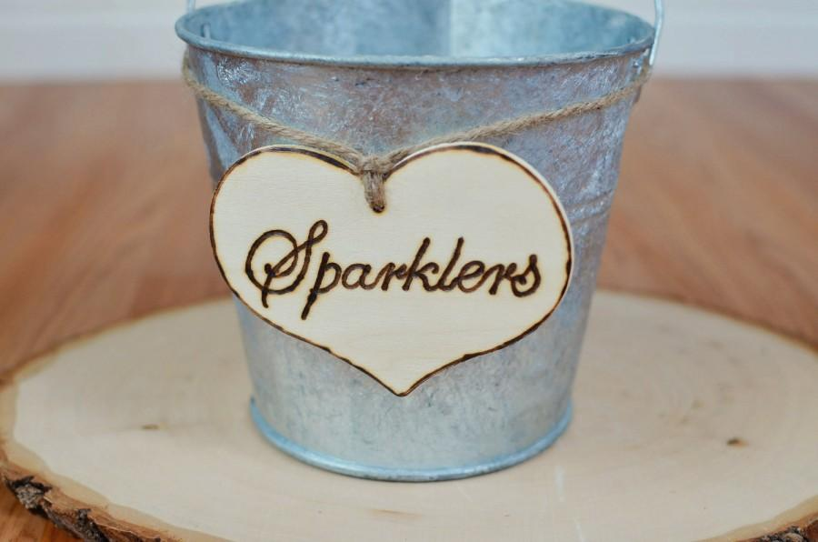 "Mariage - Rustic Wedding ""Sparklers"" Sign  for Your Rustic, Country, Shabby Chic Wedding"
