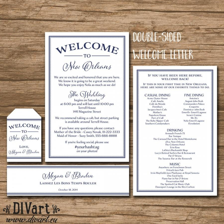 Wedding - Welcome Bag Package - Welcome Letter, Welcome Tag, Water Bottle Label - PRINTABLE files - simple and elegant - 363