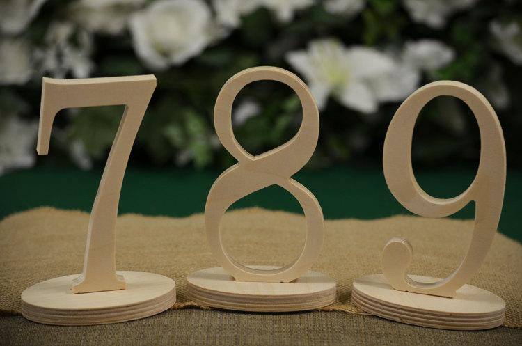table numbers wedding table numbers wood table number