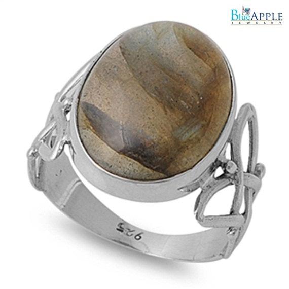 Свадьба - Labradorite 'Side Criss Cross' Ring Solid 925 Sterling Silver Turkish Vintage Anniversary Engagement Ring