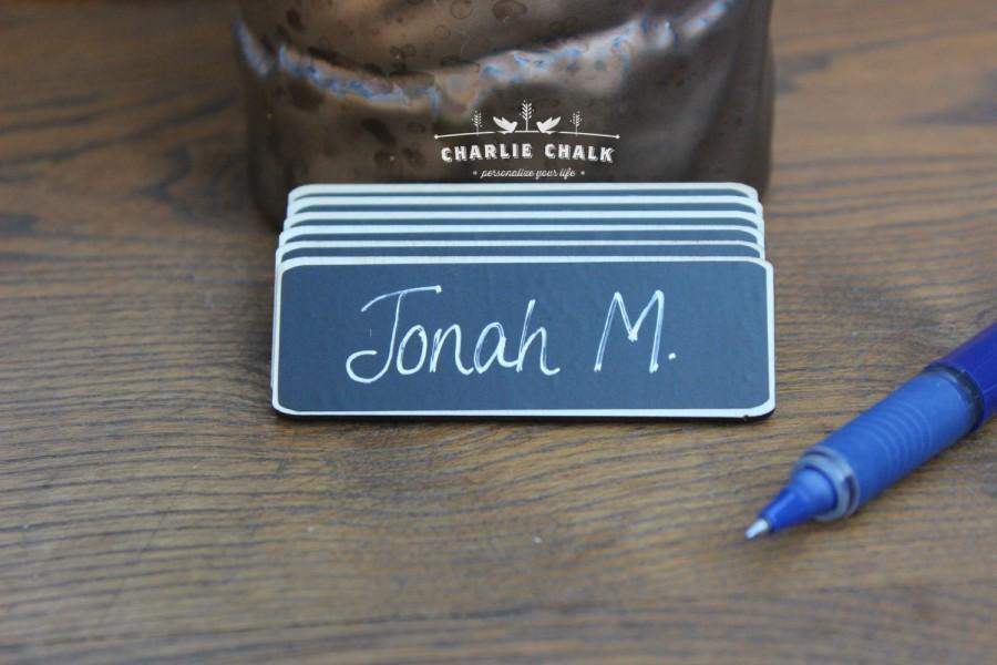زفاف - 100 Chalkboard Name Tags Chalkboard Name Badges Reusable Magnetic Name Tags Reusable Magnetic Name Badges Reusable Name Tags Chalk Name Tags