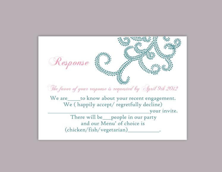 DIY Bollywood Wedding RSVP Template Editable Word File Instant
