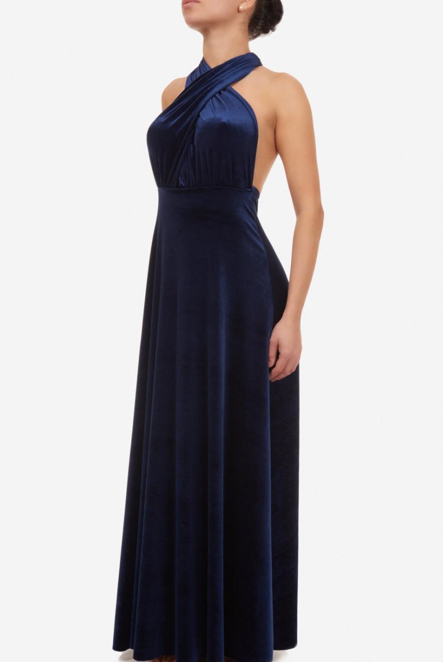 Свадьба - Infinity dress, prom dress, bridesmaid dress, blue velvet dress, ball gown, long dress, evening dress, party dress, cocktail dress