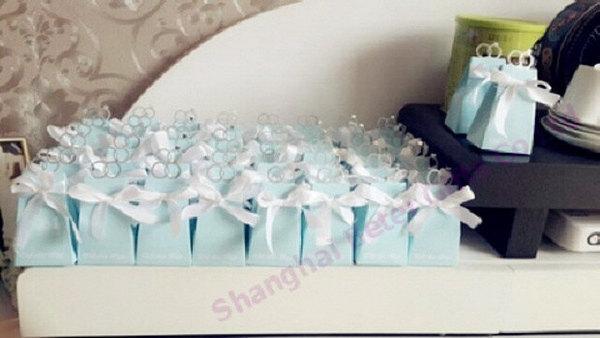 Wedding - 12pcs TH021 Tiffany Ring Love Wedding Candy Box欧式婚礼布景