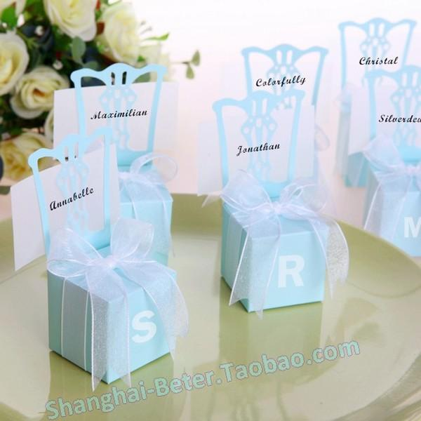 12pcs Sky Blue Candy Box Wedding Decor Ideas Favor Bag TH005 ...