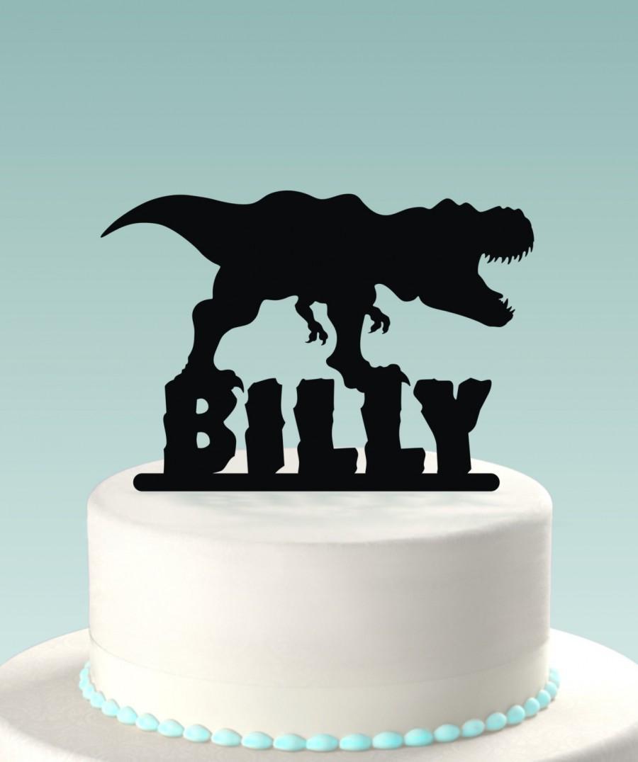 زفاف - Dinosaur Cake Topper