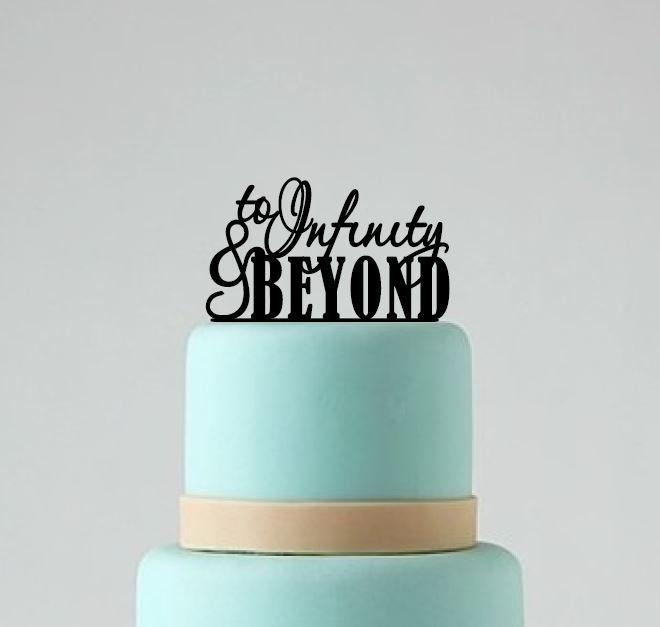 Mariage - Wedding Cake Topper, To Infinity and Beyond Cake Topper, Wedding Cake Decoration