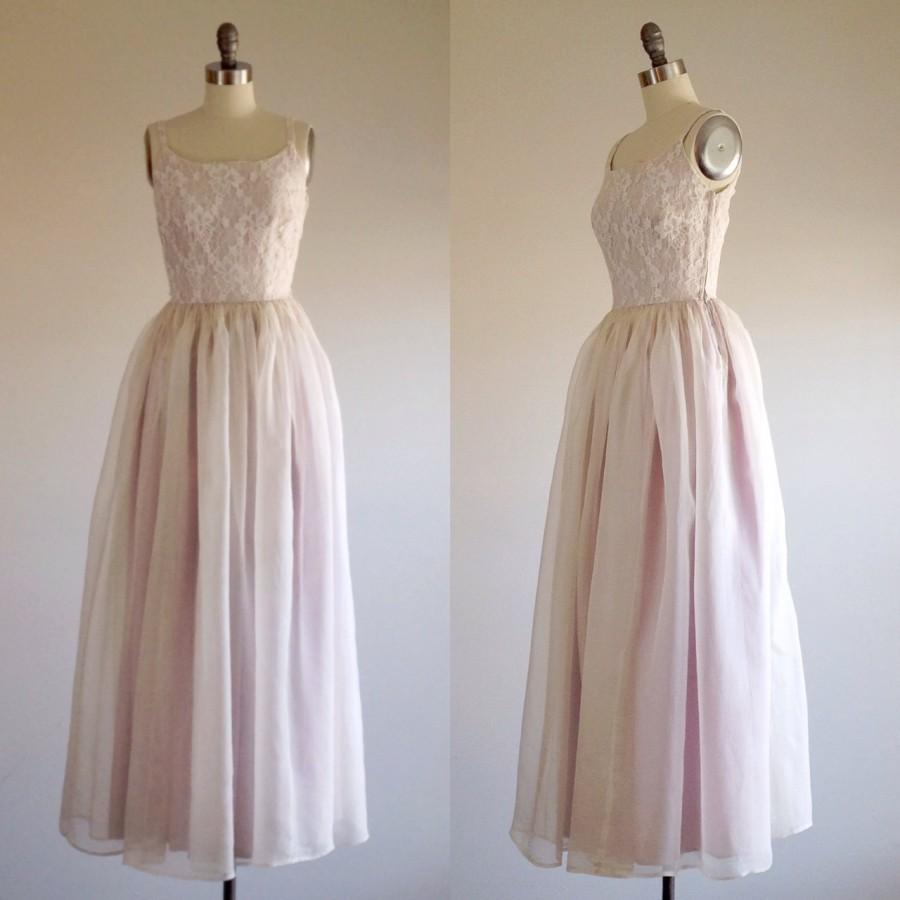 Свадьба - Lace wedding dress- Princess wedding- Full wedding dress- Lavender wedding-1950s bridal- 50s wedding dress- Extra small/ petite