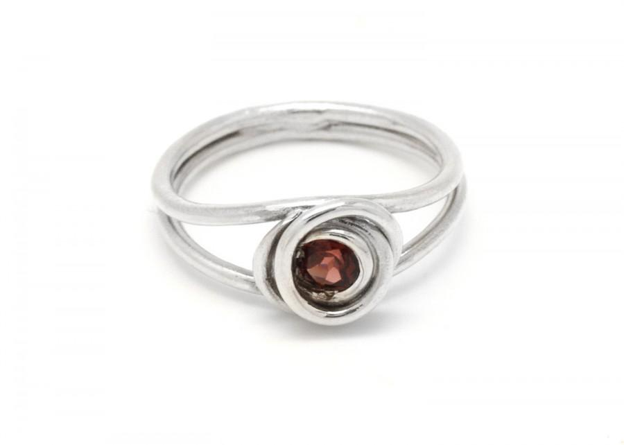 Red Garnet Ring - Red Stone Ring - Red Gemstone Ring - Garnet ...
