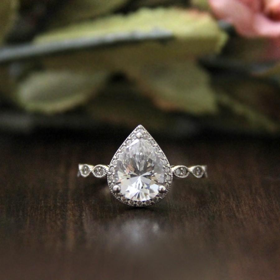 on crafted fresh pear shaped dave shank pinterest engagement halo split r by rings of pin new cushion wedding ring in related subtle with diamond post