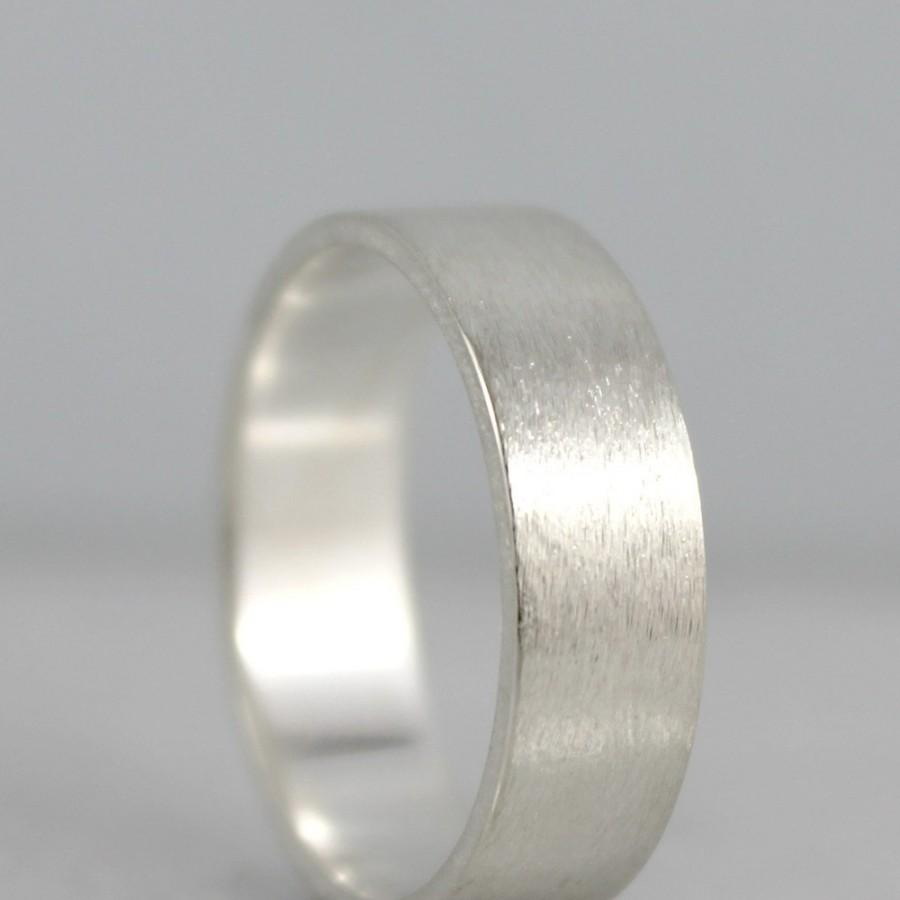 Mariage - Wedding Band - Sterling Silver Matte Finish - Made to Order - Men's or Ladies Rings