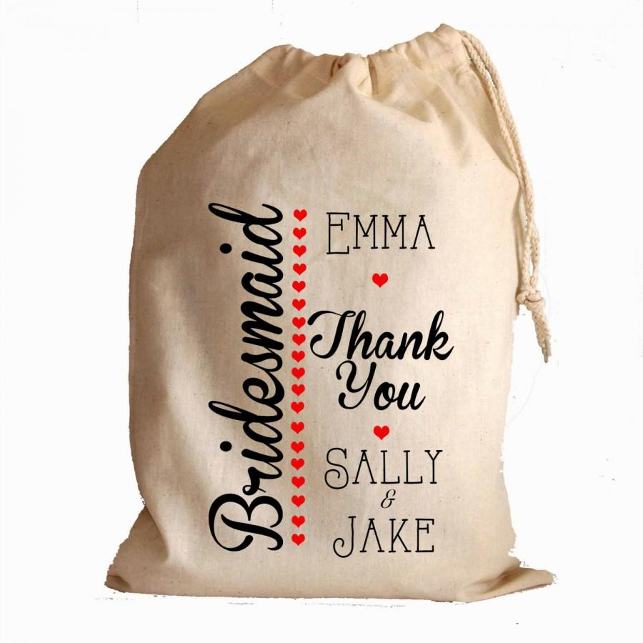 Wedding Favour Party Gift Bags Best Man Bridesmaid Flower Girl Usher