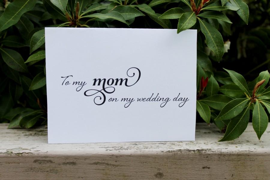 To My Mom On Wedding Day Printable Diy Mother Of The Bride Stationary Greeting Card Thank You Note Thankyou