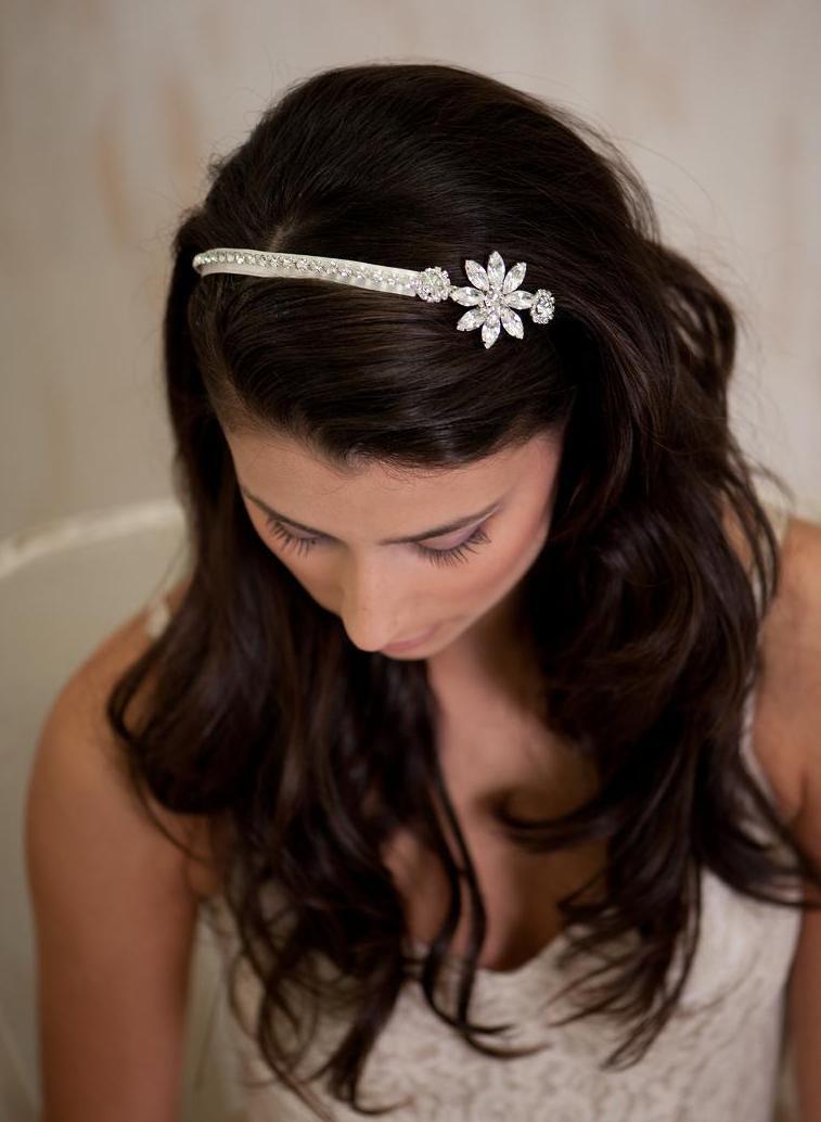 زفاف - Wedding jewelry - Crystal Rhinestone Bridal Headband, Vintage Inspired, Fascinator Bridal Headband, bridal tiara,wedding  hair accessories
