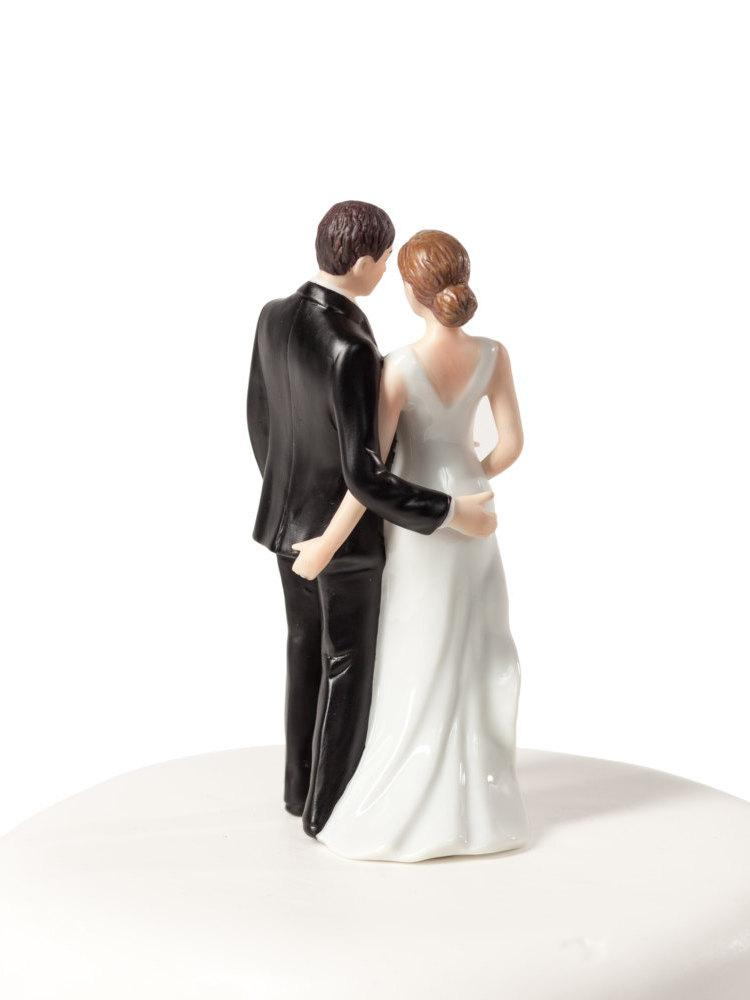 Свадьба - Funny Sexy Tender Touch Cake Topper - Custom Painted Hair Color Available - 706513