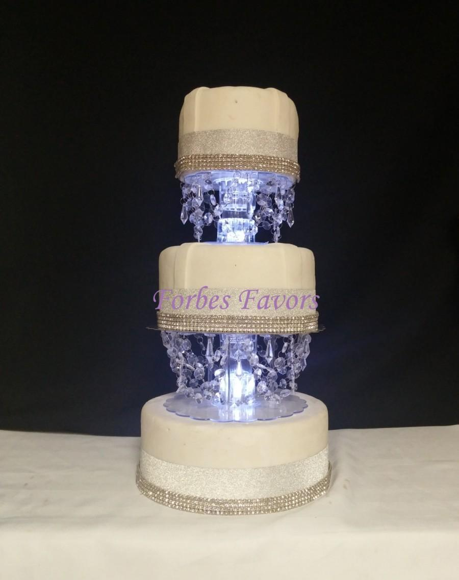 Wedding - Acrylic Crystal Valance Cake Separators Wedding or Special Events With LED