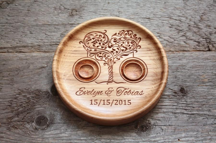 Ring Bearer Pillow Alternative Personalized Wood Wedding Ring ...