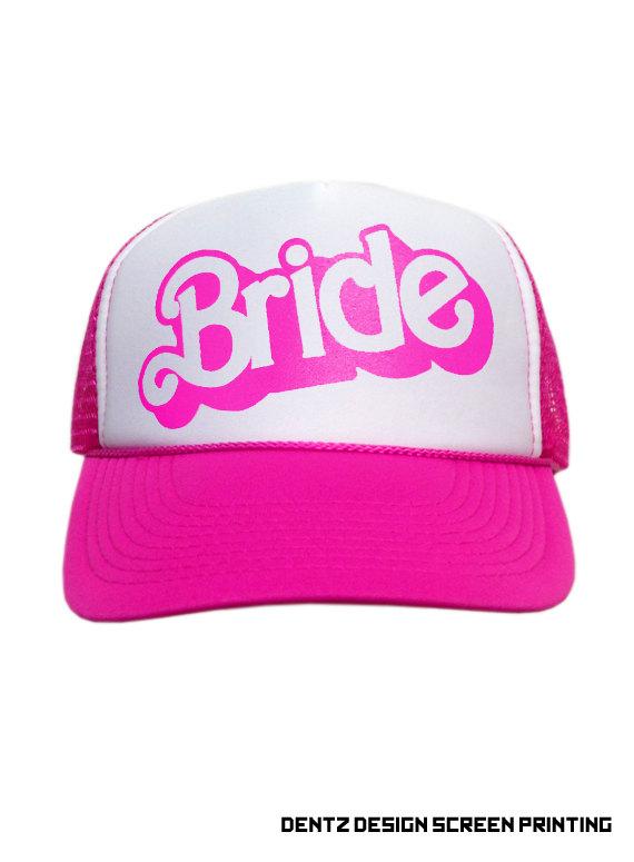 Hochzeit - Bride - Doll Style - Snapback Trucker Hat