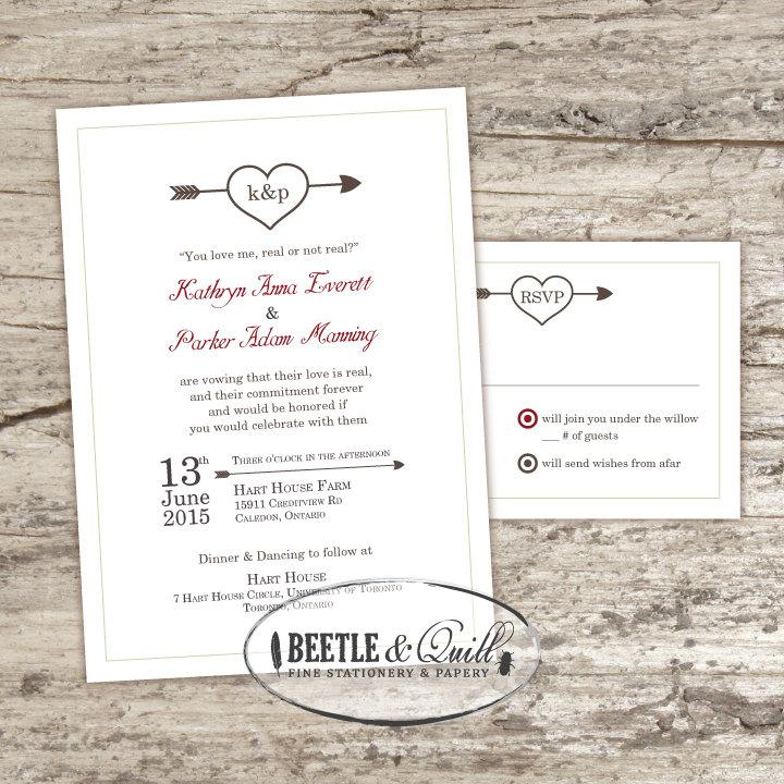 Mariage - Odds in Our Favor Printable Wedding Invitation Set
