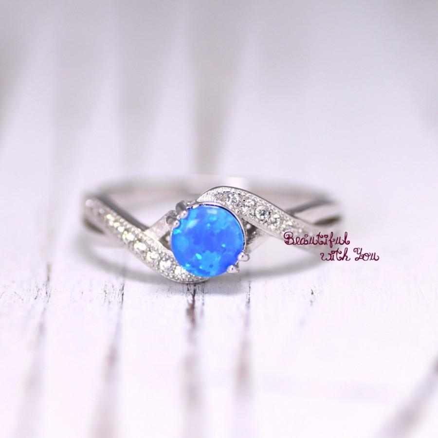 womens blue opal wedding ringopal ringsilver lab opal ringopal wedding bandpromise ring for heropal engagement ringtying the knot ring - Opal Wedding Ring
