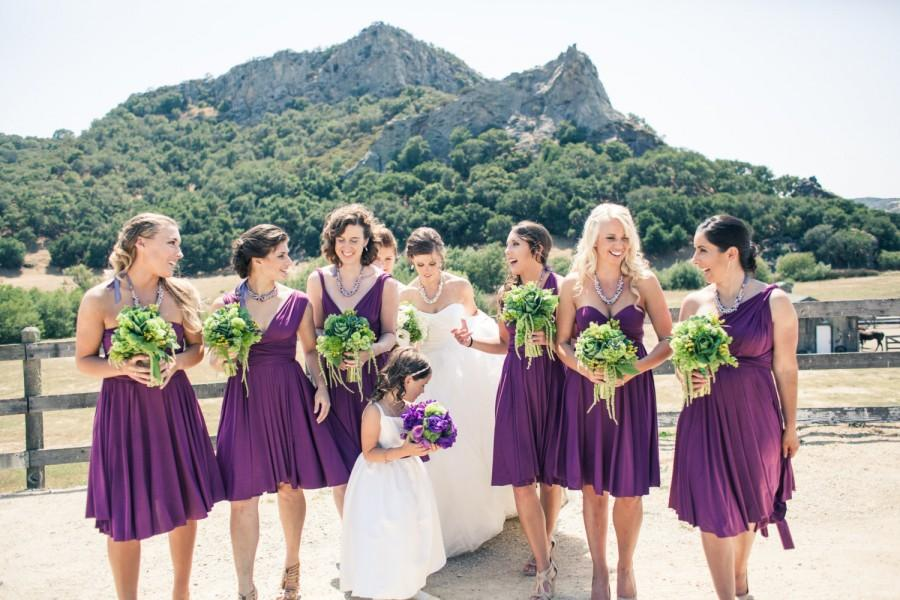 Свадьба - Bridesmaid Dress Purple - Multiway Style
