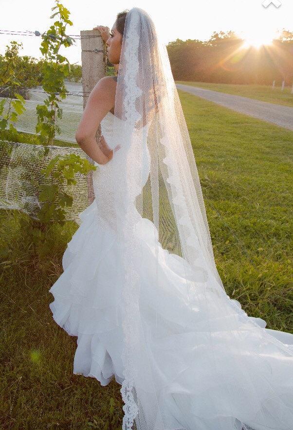Hochzeit - Long Lace Veil