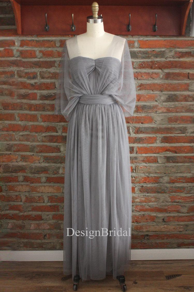 Grey bridesmaid dresswrap dressesinfinity long dressgrey prom grey bridesmaid dresswrap dressesinfinity long dressgrey prom dressgrey dresses for womenformal dress longhomecominggraduation dress ombrellifo Gallery