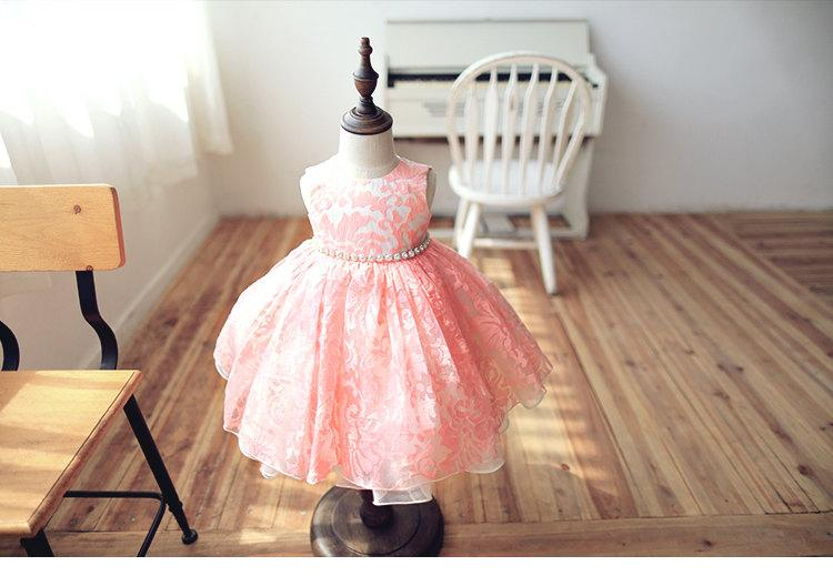 Wedding - Blush Pink Flower Girl Dress Baby Dress Bridesmaid Dress Toddler Birthday Dress Evening Dress Party Wedding Dress