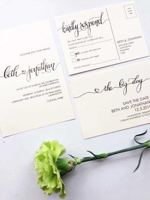 Свадьба - Wedding Invitation Printable Invitation 3 Piece Set