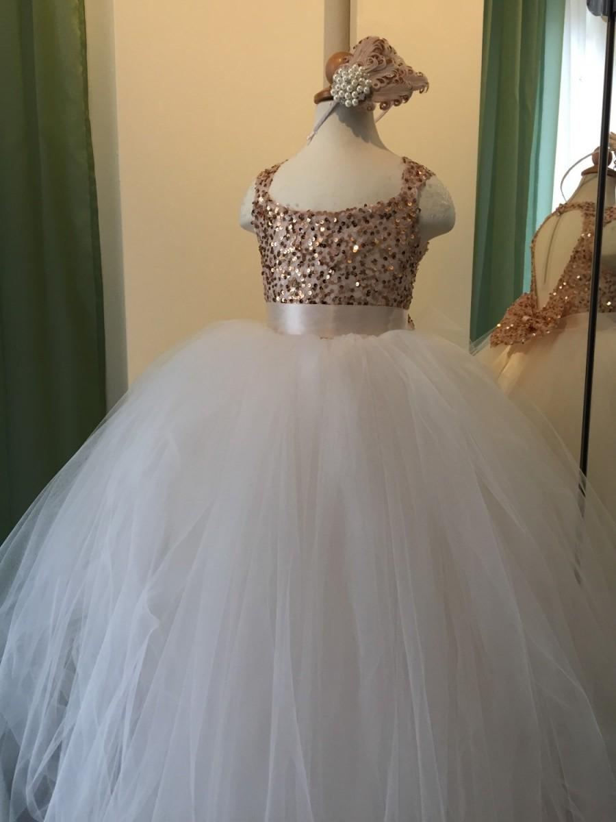 Свадьба - Blush Flower Girl Dress